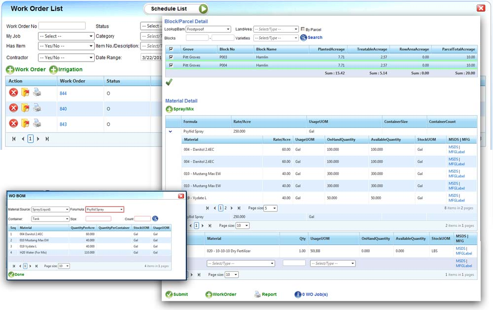 cropcare work orders and job scheduling for agriculture